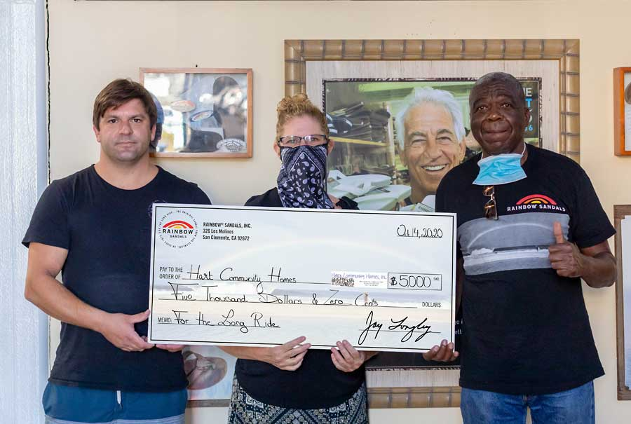 Donation from Rainbow Sandals Foundation in San Clemente